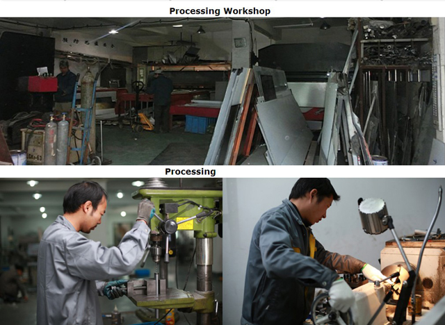 Processing workshop for manufacturing sealing machines