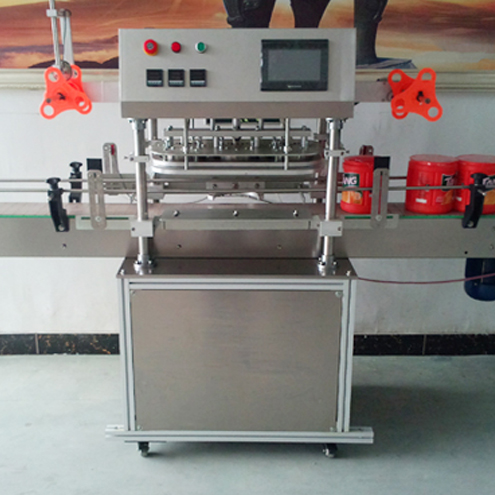 jars sealing machine film sealer equipment three heads seal machinery linear with PLC countrolling system