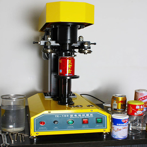 tabletop pop cans sealing machine semi automatic metal tin can easy open sealer equipment desktop