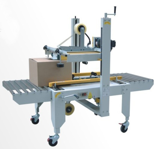 Carton sealing machine semi automatic boxes sealer equipment top-bottom belts